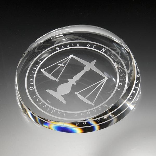 Award-Clear corona Paperweight