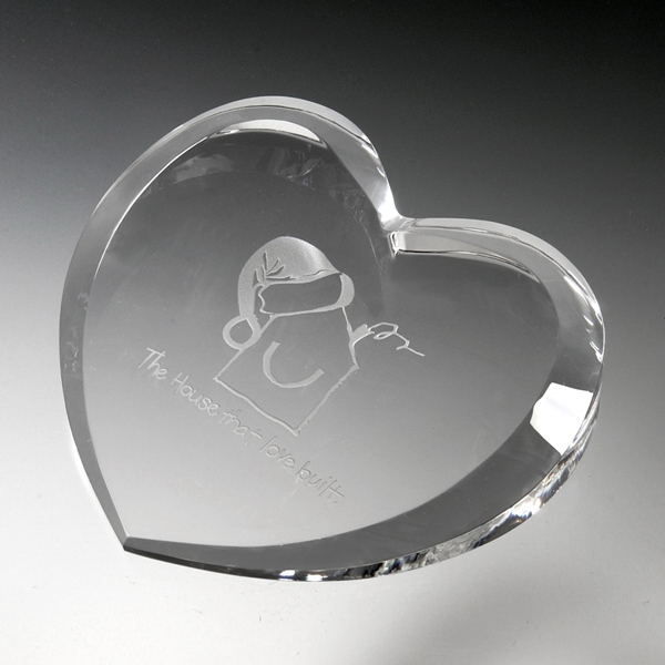 Award-Heart Paperweight
