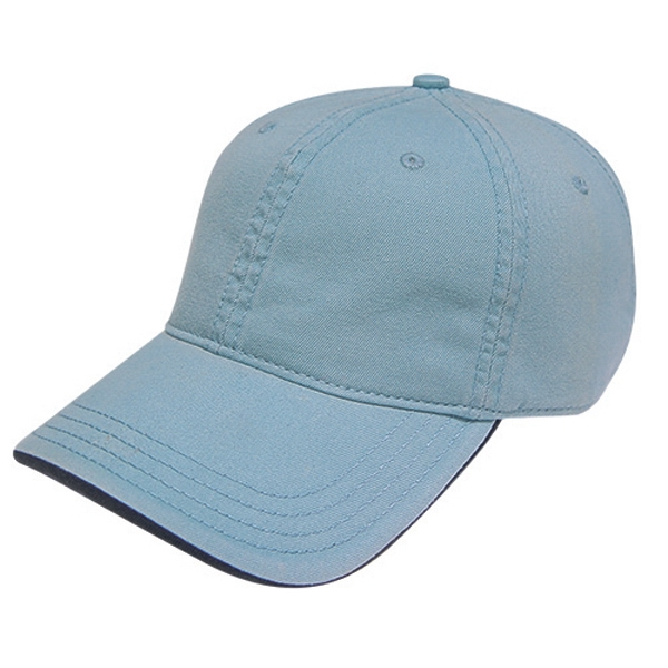 Golf And Resort Collection - Low Profile Six Panel Unstructured Two-tone Washed Chino Twill Cap. Closeout Photo