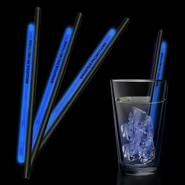 "Blue 9"" Glow Straw Photo"