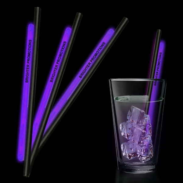 "Purple 9"" Glow Straw Photo"
