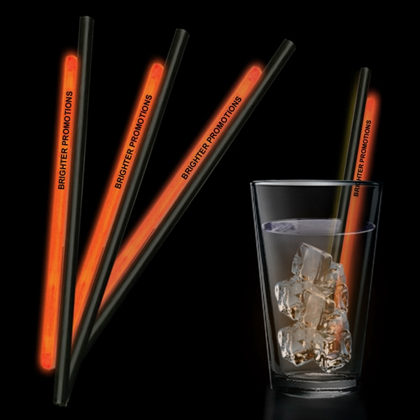 "Orange 9"" Glow Straw Photo"