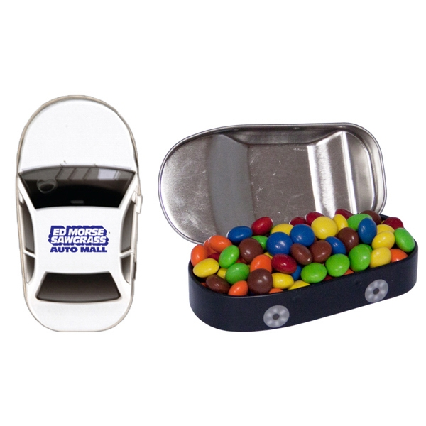 Car Tin with Chocolate Littles Compare to M&M(r) Candy