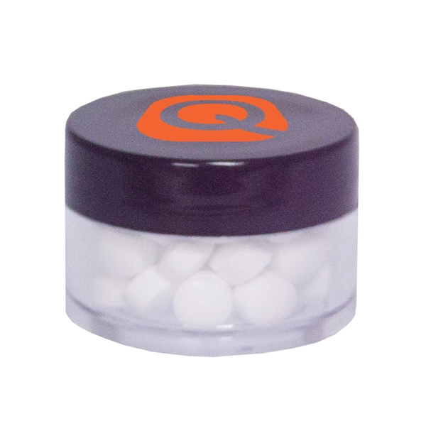 Twist Top Container Black Cap filled with Sugar-Free Mints