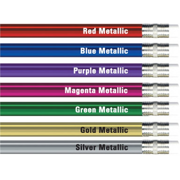 Round Metallic Foil Pencils Photo