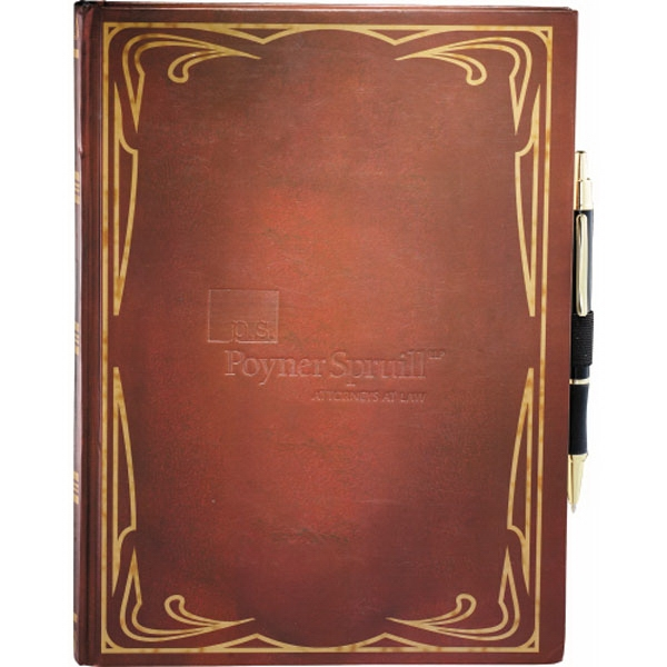 Journalbooks (r) - Classic Large Journal Book With Ornate Decorative Border Photo