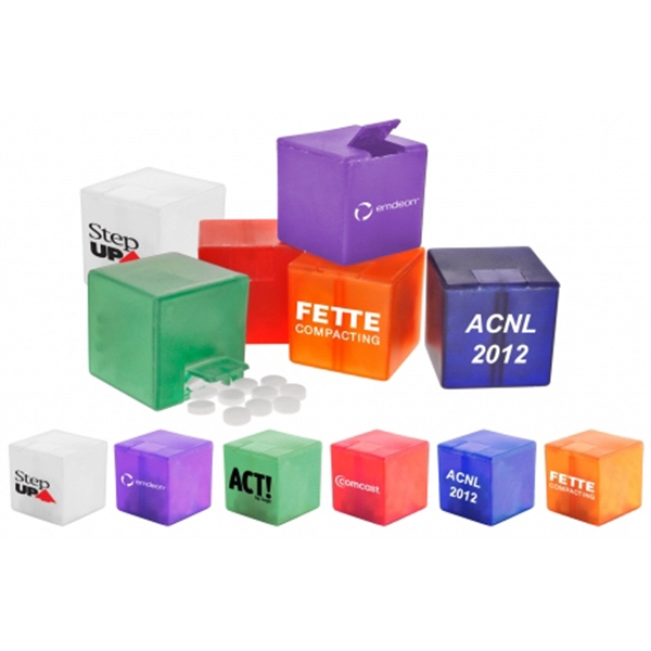 7 Working Days - Cube-shaped, Mint Dispenser Filled With Mints. Available In 6 Dispenser Colors Photo