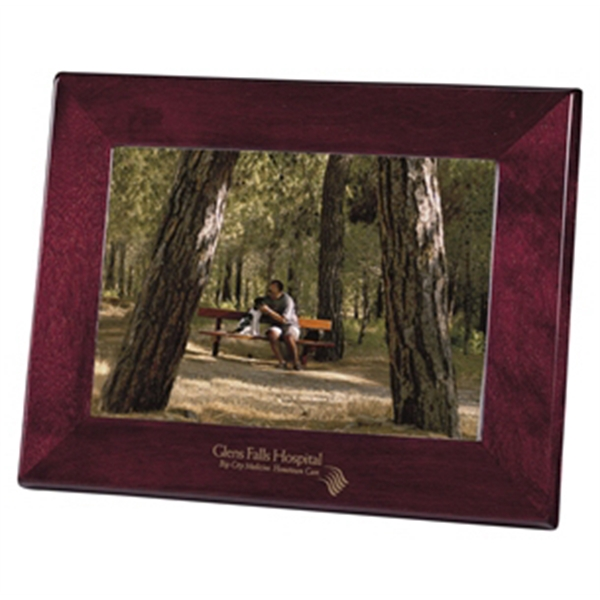 "Rosewood Frame Ii - High Gloss Rosewood Finish Frame On Select Hardwoods, Holds A 5"" X 7"" Photo Photo"