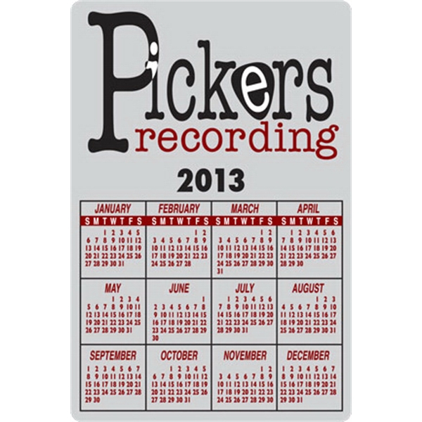 "Vertical 2 1/2"" X 1 1/2"" - 4 1/8"" X 2 3/4"" Ultra Removable Full Digital Calendar Decals Photo"