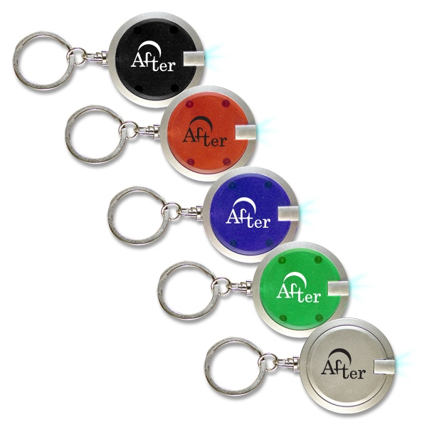 "1.5"" Premium Round Led Key Chain Is Perfect For Finding Things In The Dark Photo"