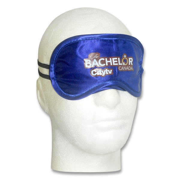 Blue - Black Satin Sleep Mask Photo