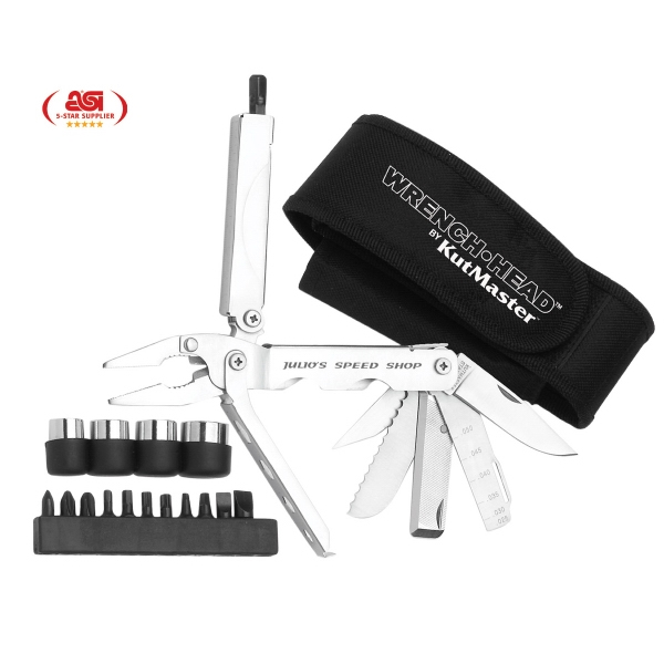 Wrenchhead (tm) - 34 Function Multi Tool With Case. Break Away T Handle For Added Turning Torque Photo