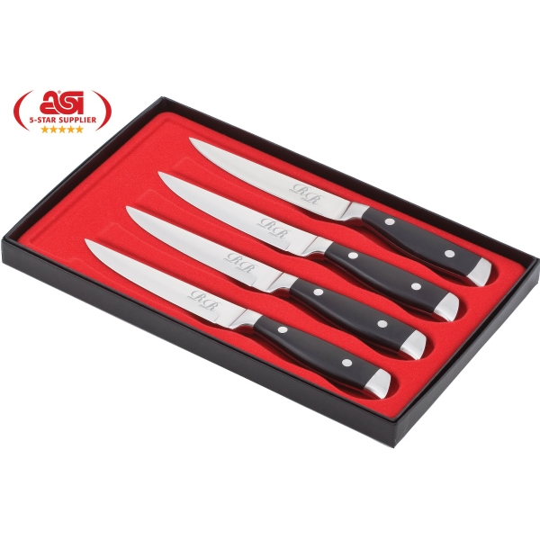 High Plains - Set Of 4 Knives, Delrin Handles And Stainless Steel Blades Photo