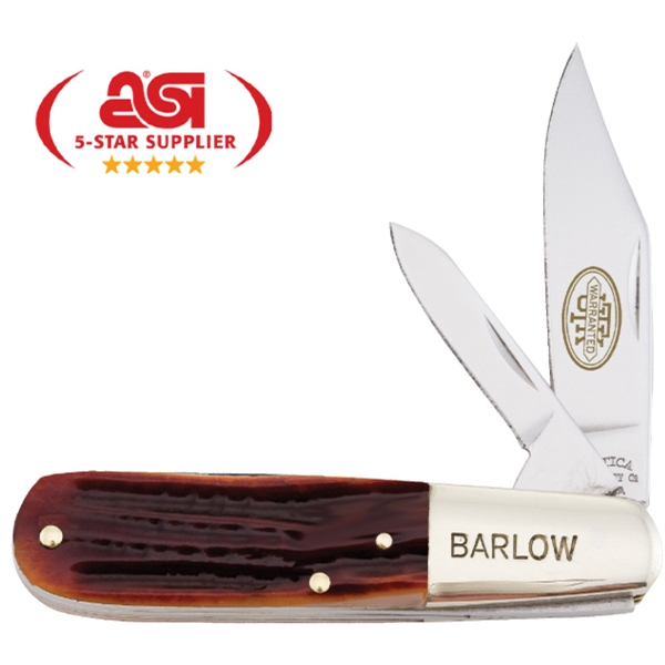 "Barlow Catskill - 3 1/4"" Knife With Brown Jigged Bone Handle. Made In The Usa, Union Made Photo"
