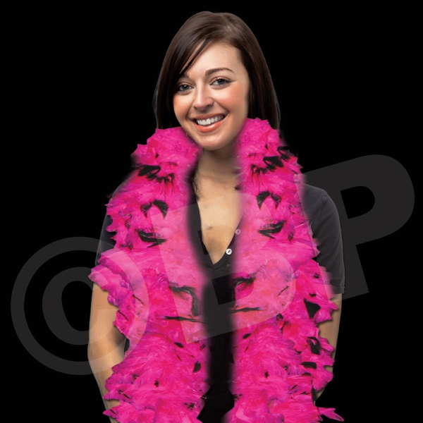 Pink & Black Adult Size Feather Boa