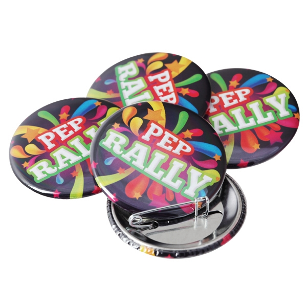 "3""  Round Button with Pin Backing and Mylar Coating"