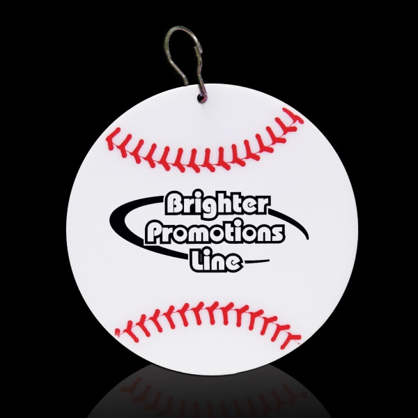 "Baseball 2/12"" Plastic Badge Medallion Photo"