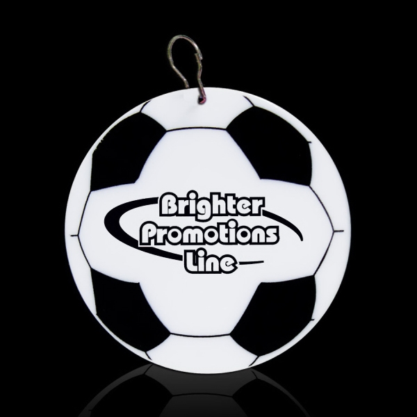 "Soccer 2/12"" Plastic Badge Medallion Photo"