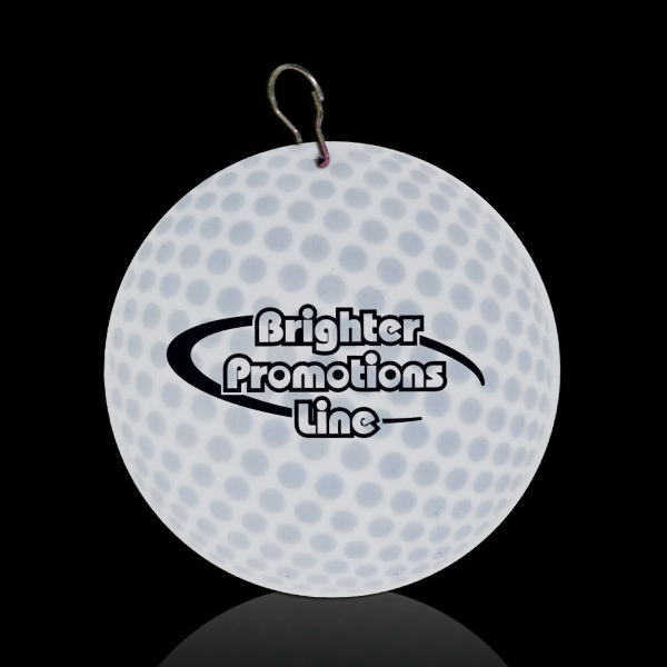 "Golf Ball 2/12"" Plastic Badge Medallion Photo"