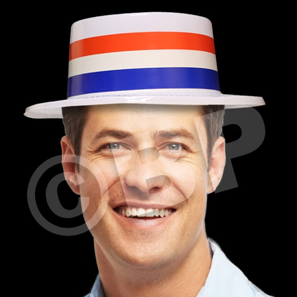 Patriotic Skimmer Hat, Blank Photo