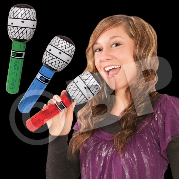 Inflatable Neon Microphone, Blank Photo