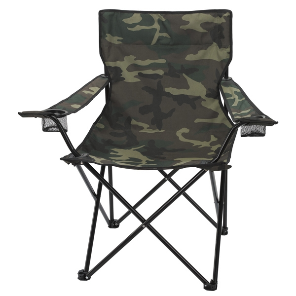 Camouflage - Folding Chair With Carrying Bag Made Of 600 Denier Nylon Photo