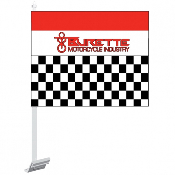 4 Spot Colors - Car Flag Made Of 2-ply, 68 Denier Polyester Photo
