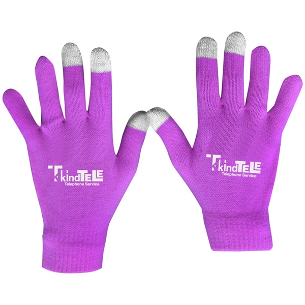 Rubber Imprint - Custom Touch Screen Gloves Photo