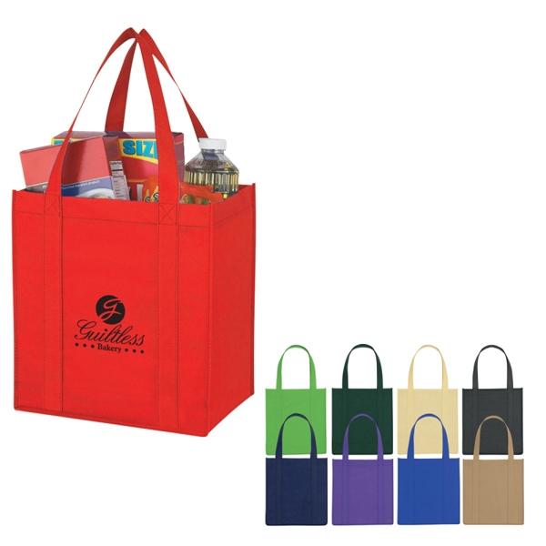 Custom Non-Woven Avenue Shopper Tote Bag