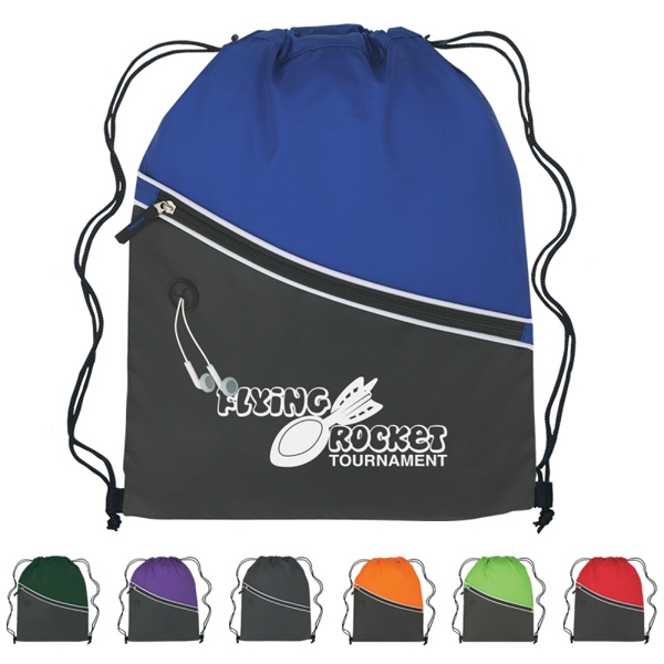 Custom Two-tone Sports Pack With Large Front Zippered Pocket Photo