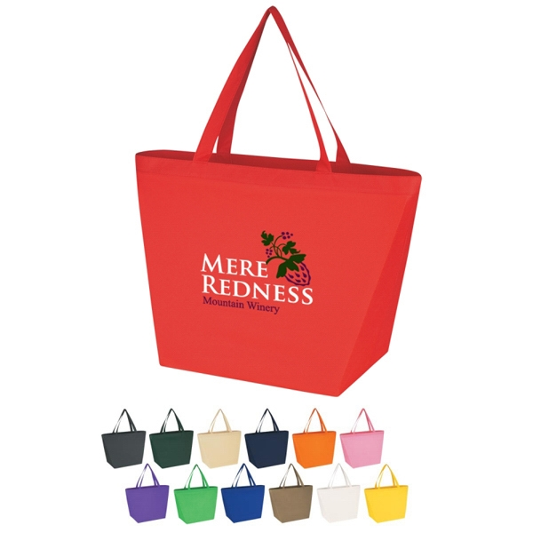 Custom Non-woven Budget Shopper Tote Bag Photo
