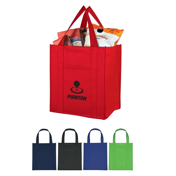 Custom Matte Laminated Non-woven Shopper Tote Photo