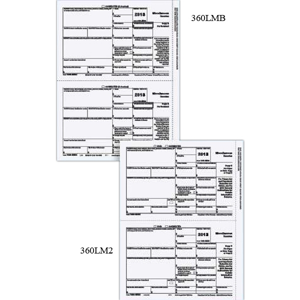 Laser 1099 MISC Income Form - One part 1099 recipient/state copy 2 form.