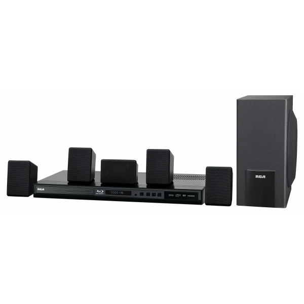 100W Home Theater System w/Blu-Ray Player