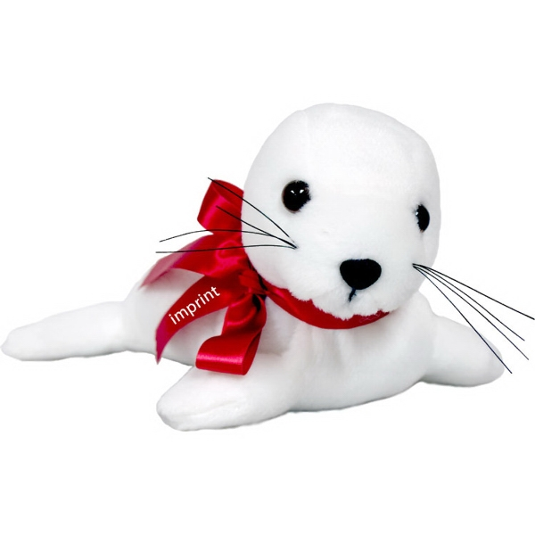 "9"" Seal with Ribbon and One Color Imprint"