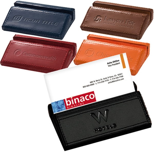 Soho Leeman New York - Clearance Desk Business Card Holder. While Supplies Last. Closeout Photo