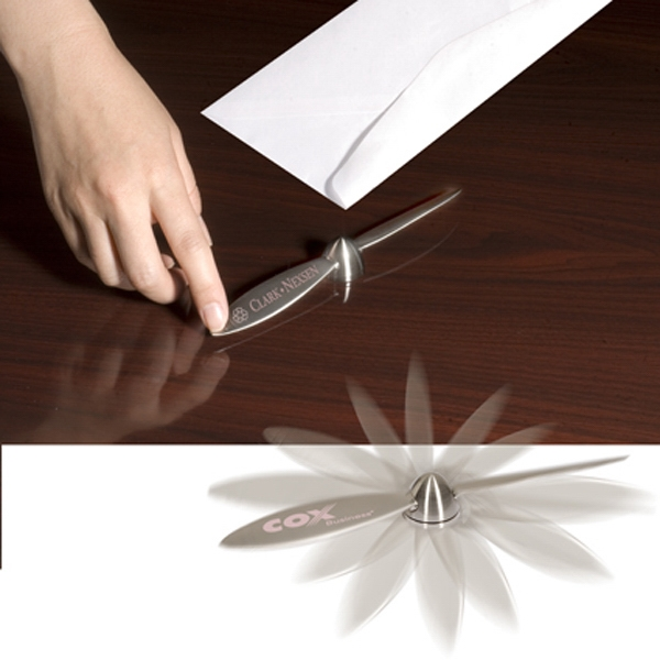 Clearance Spinning Prop Letter Opener. While Supplies Last. Closeout Photo