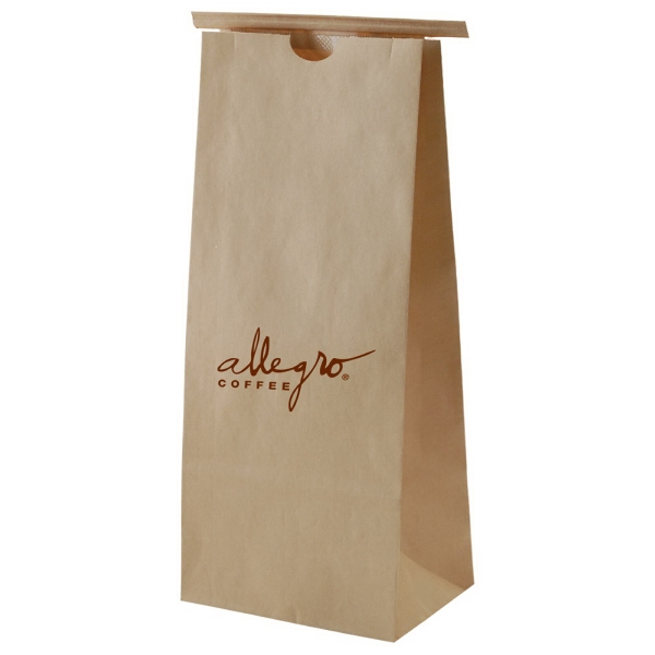 "3.5"" X 7.75"" - Tan Color Coffee Bag Has Polypropylene Liner And Tin Ties Photo"