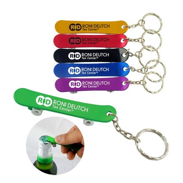 Skateboard Bottle Opener with key chain
