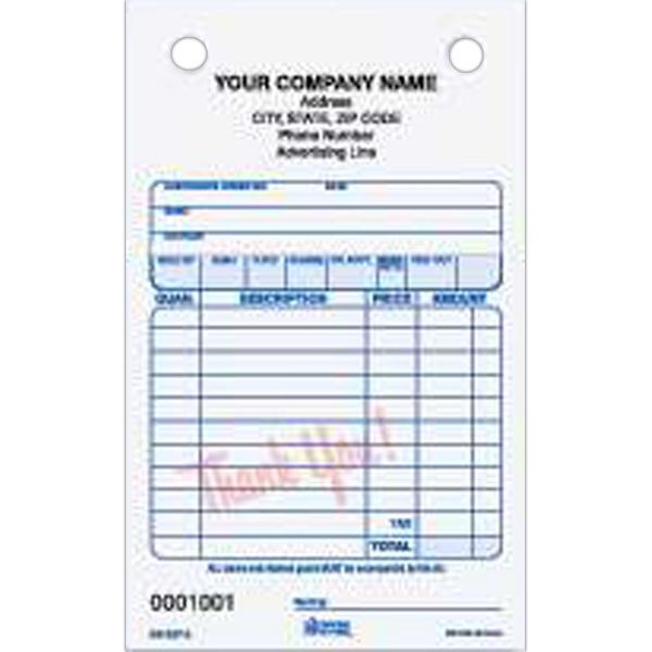 """General Sales Register Form - General sales carbonless multi-part register form, 4"""" x 6 1/2""""."""