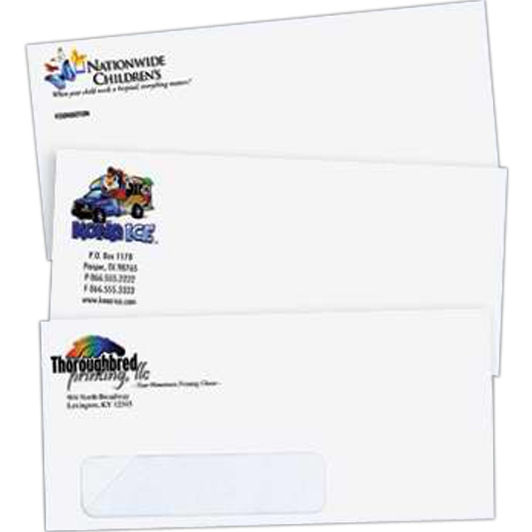 Full-Color Stationery - Full-color envelope with window.