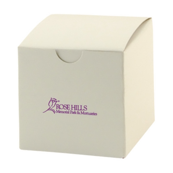 White Gloss Gift Box, Made In The Usa Photo