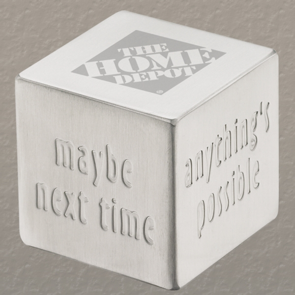 Executive Series - Decision Dice - Brushed Stainless Steel Die. Use As Decision Maker Or Paperweight Photo