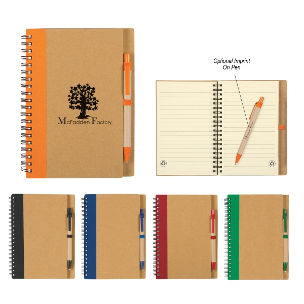 Eco Spiral Notebook And Pen Photo