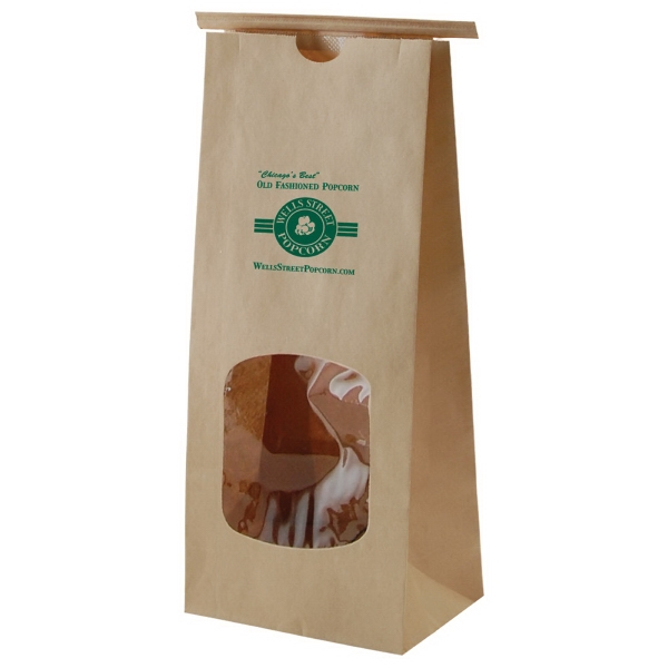 Tan - 1 Lb. Coffee Bag With Window. Features Polypropylene Liner And Tin Ties Photo