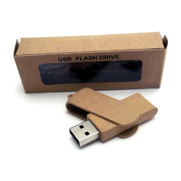 1gb - Eco Friendly Plastic Swivel Drive With Plastic Clip Photo