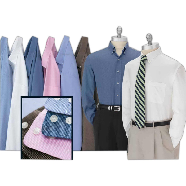 Men's Solid Easy Care Dress Shirt