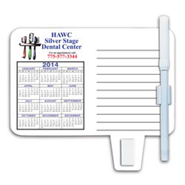 Full Magnetic Back Memo Board With Calendar, Clip For Papers, Erasable Pen And Clip Photo