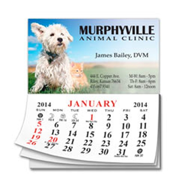 Add-a-pad - Business Card Magnet With Small 12 Month Calendar. Approximately .020 Thick Photo