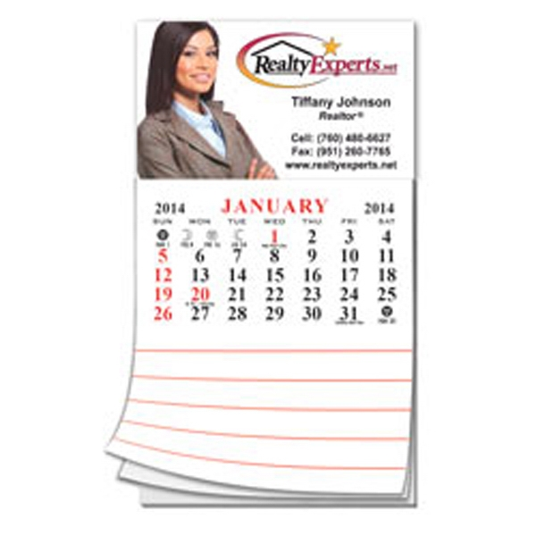 Add-a-pad - Business Card Magnet With Large 12 Month Calendar And Memo Attachment Photo